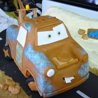 Tow Mater Tow Mater and cake desert are 100% edible.