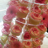 Hot Pink Wedding Cupcakes