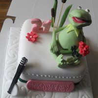 Kermit Birthday Cake Kermit from the muppets for another muppets fan!