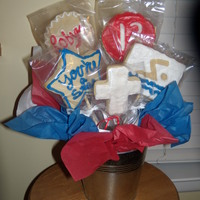 Cookie Bouquet Birthday bouquet made for friend's granddaughter who is a swimmer and Christian.