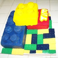 Butter Cream Covered Lego Cake I Got The Inspiration Online Thank You Butter Cream Was Hard To Work With Next Time It Will Be Fonda  Butter Cream covered Lego cake.. I got the inspiration online (thank you!!).. Butter cream was hard to work with, next time it will be...