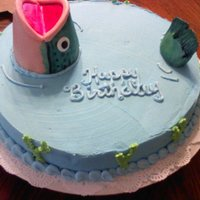 Fish In Pond Cake