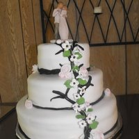 Dogwood Wedding Cake 3 tier dog wood, willowtree