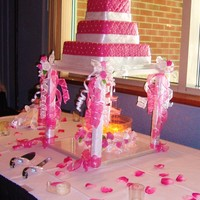 Hot Pink Quinceanera I still love fountains! I was so happy she wanted one!!!!!!