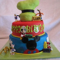 Mickey Mouse Meets Goofy I did this cake for a joint bday party- it was for a 2, 10 and 17 year old. I used to nanny for the younger two. It was a mickey themed...