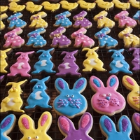 Easter Cookies Bunnies, chicks, eggs and more! I chose very bright colours this year. Purple, turquoise, pink and yellow and I am so pleased with the...