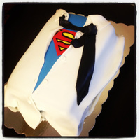 Superman Theme Groom's Cake