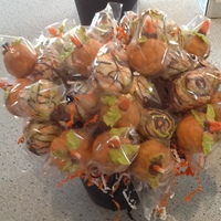 """happy Halloween"" Cake Pops Red Velvet Cake Pops Boquet"