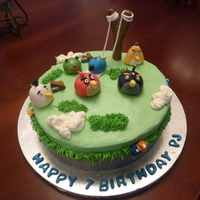 Angry Birds Had so much fun with this one. I had not heard of the game until asked to do this cake. So...I had to check the game out...and now am...