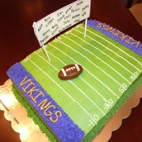 End Of Season Football Team Cake Customer wanted all the kids names on the cake!