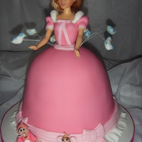 Cinderella Themed Princess Cake The cake was inspired by my favourite scene from Cinderella when she wears the dress made by the mice and the birds.