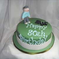 Bowling Themed 80Th Birthday Cake