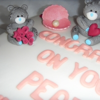 Me To You Bears Pearl Wedding Anniversary Cake
