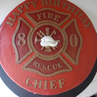 Fire Chief Birthday Cake