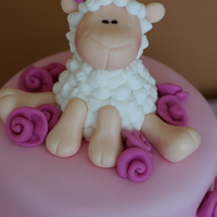 Girly Pink Baby Shower Chocolate cake and Yellow cake with Vanilla Bean Buttercream and MMF. Lamb made using Lorraine McKay's awesome tutorial! This one was...