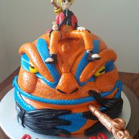 Naruto Anime Cake For Dans 30Th
