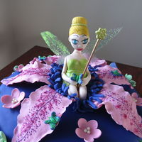Tinkerbell For A Tinkerbell Themed Party For My 4 Year Old Great Niece All Edible Including The Wand And The Wings Made Out Of Gelatine Wi... Tinkerbell for a Tinkerbell themed party for my 4 year old great niece. All edible including the wand and the wings (made out of gelatine...