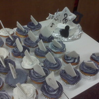 Band Cake V.m.s Cupcakes were made for Mr. Emery`s band class @ V.M.S