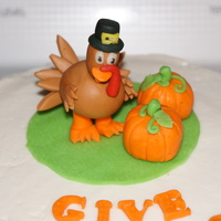 Thanksgiving Cake For My Hubbys Family Fondant Turkey And Rkt Pumpkins Covered In Fondant Strawberry Cake With Buttercream Icing Thanksgiving cake for my hubby's family. Fondant turkey and RKT pumpkins covered in fondant. Strawberry cake with buttercream icing.