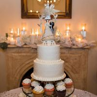 Wedding Cake & Cupcakes Two tier red velvet cake and chocolate, strawberry, and white cupcakes. The wedding cake topper was the one the Bride's parents used...