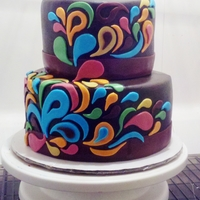 Paisley Cake, Round 2 Paisley cake, round two. Chocolate cake with oreo cookies 'n' cream filling. The only change was that I lightened the colors of...