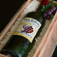 Wine Bottle Cake Wine bottle in a crate for my own birthday. Always enjoy trying something new. Thanks to all the CCers out there who have posted photos...