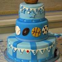 All Star Baby Shower Cake   sports theme