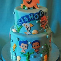 Bubble Guppies   bubble guppies cake for 2nd birthday