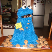 Cookie Monster Cake   By far the tallest and heaviest cake I have ever made!