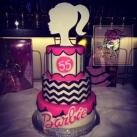 Barbie's Birthday Cake! Cake celebrating the Barbie doll's 55th anniversary!
