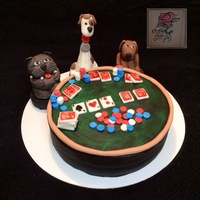 Dogs Playing Poker!!! Dogs playing poker cake