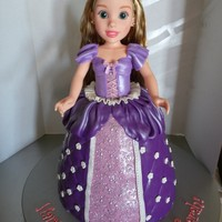 Rapunzel Doll Cake Made with 18 in Rapunzel doll.