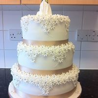 Wedding Cake I Made For My Cousin And His Wife Wedding cake I made for my cousin and his wife