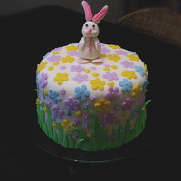 Easter Fondant covered with fondant accents. Bunny is 50/50 MMF and Gumpaste. Thanks for looking!