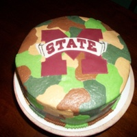 Msu Camo My brother-in-laws birthday cake. BC Camo, brown is Chcolate. MState is Fondant.