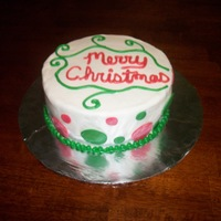 Christmas Cake Just a small Christmas Cake for our family get together.