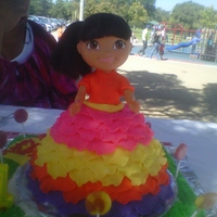 Dora Cake My daughters 1st birthday cake she loves Dora.