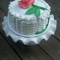 Buttercream Ruffles And Rose