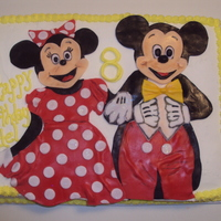 Classic Mickey And Minnie Mouse Cake