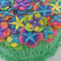 Colorful Luau Themed Cake