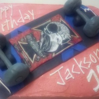 Tony Hawk Skateboard Cake