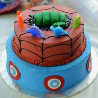 Superhero Themed Birthday Frosted In Bc With Fondant Decor Superhero Themed Birthday - Frosted in BC with fondant decor