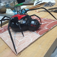 Realistic Spider Cake   Halloween spider cake inspired by the black widow spider