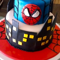 Spidey's In Town I only had a few hours to do this cake..it was a last minute thing..hope ya'll like it!