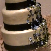 Sweet 16 Black & Silver A three tiered simple cake for a young lady who at first did not want a cake..but her mom got it for her and when she saw it she was so...
