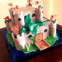 Castle Cake! I only had 1day to complete this cake for my nephew but I was pleased witht the results..all %100 edible. Marble cake with Swiss Meringue...