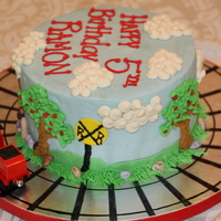 Thomas The Train Cake Buttercream with fondant and buttercream designs.8in