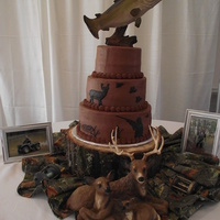 I Made This Cake For A Friends Son That Is An Avid Hunter Made With Chocolate Buttercream   I made this cake for a friends son that is an avid hunter. Made with chocolate buttercream....