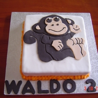 Monkey My sons 2nd Birthday Cake