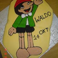 Pinocchio Had fun making this cake for my 1 year old son